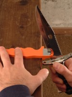 食人鱼台湾正品钨钢磨刀器便携式居家户外通用